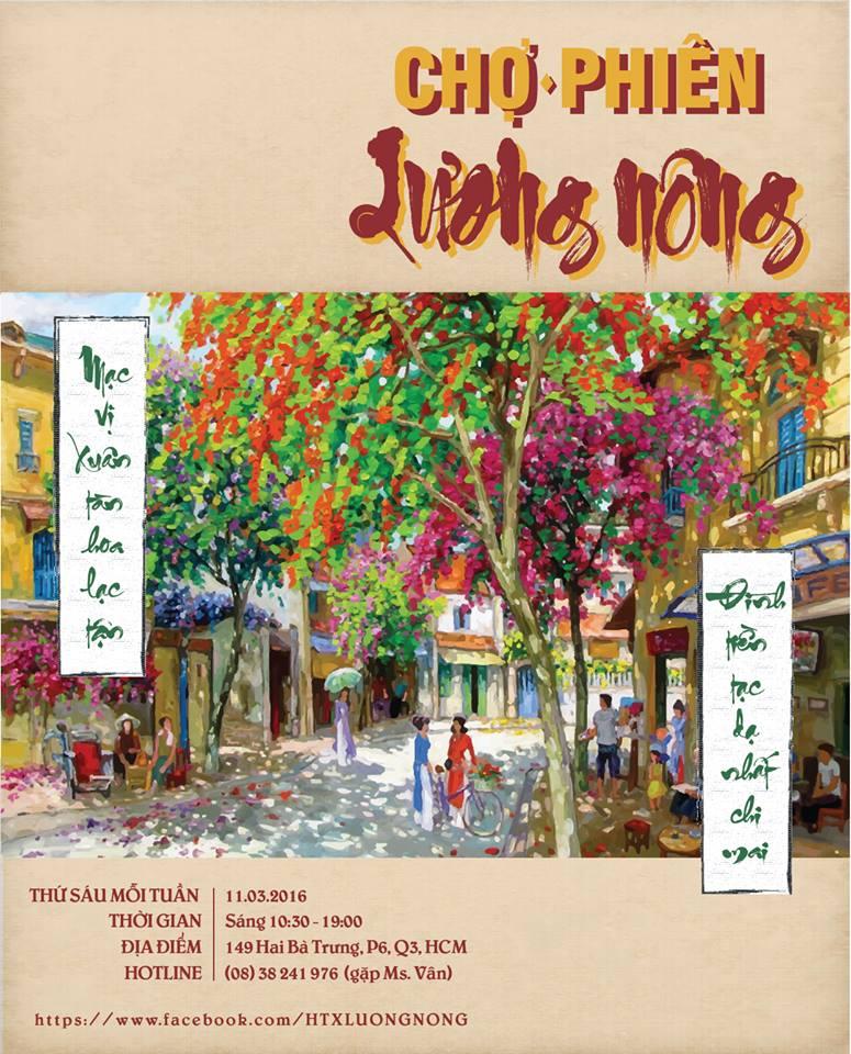 Chợ Phiên Lương Nông diễn ra thứ 6 hàng tuần nhé mọi người!