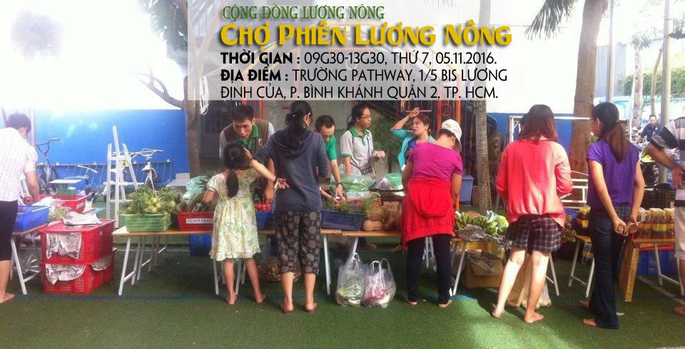 Chợ phiên Lương Nông tại trường quốc tế Pathway