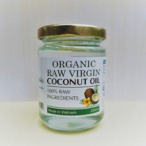 Dầu dừa tem nhãn tiếng Anh