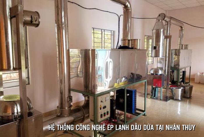 Công nghệ sản xuất dầu dừa ép lạnh