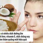 Trị Thâm Mắt Bằng Dầu Dừa Tạm Biệt Đôi Mắt Gấu Trúc