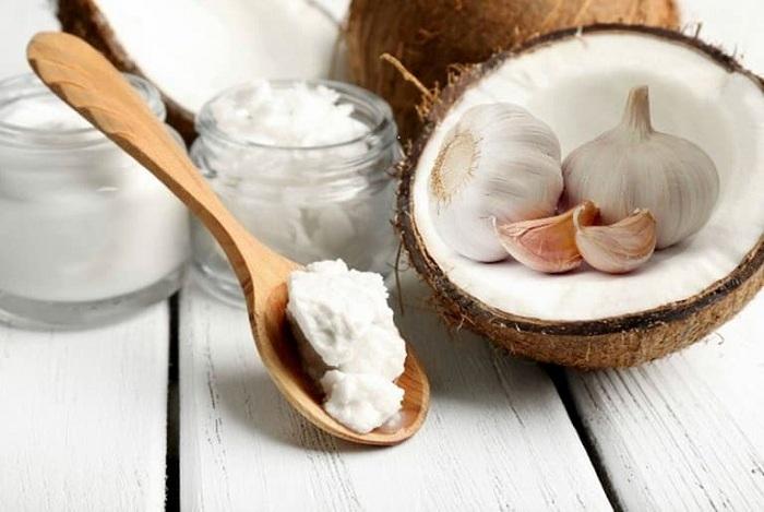 Kết hợp dầu dừa và tỏi để chữa giãn tĩnh mạch